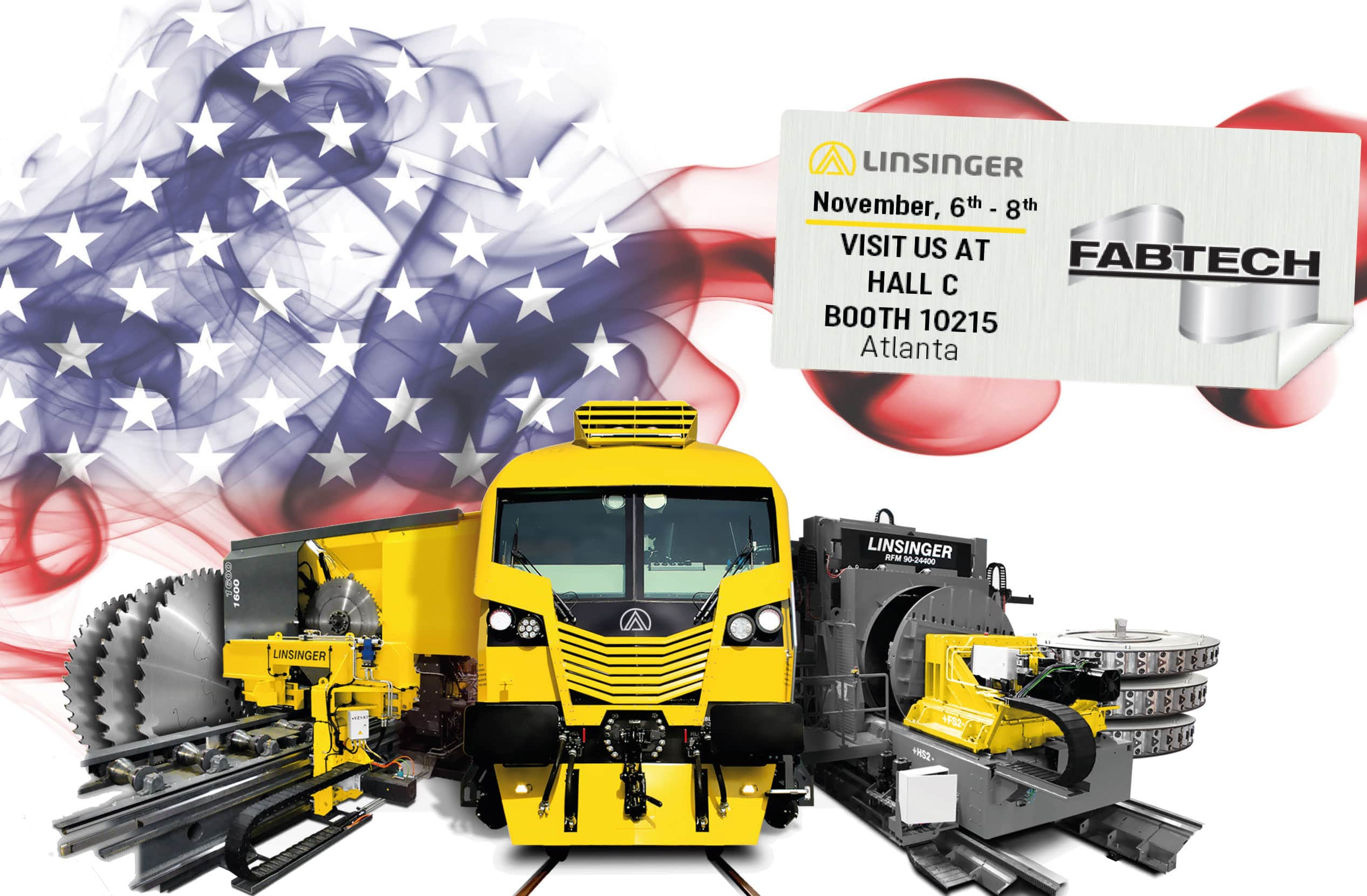 Linsinger als Aussteller auf Messe, Linsinger is exhibitor at Fabtech Exhibition in