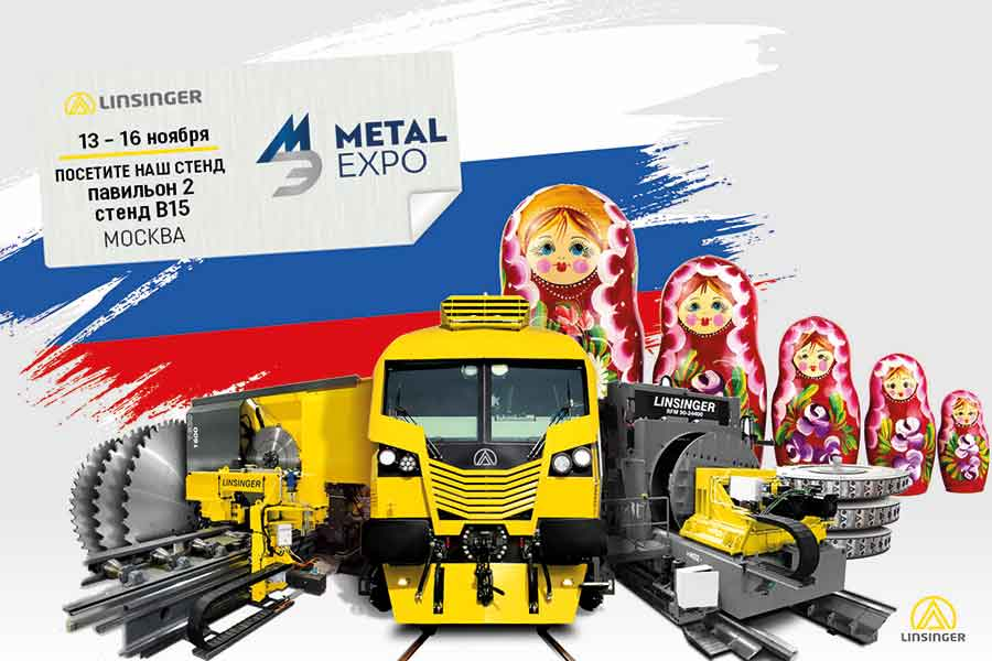 Linsinger will be at the Metal Expo in Russia