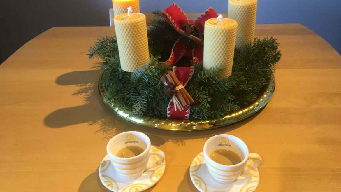 Linsinger Advent Wreath and Espresso Cups
