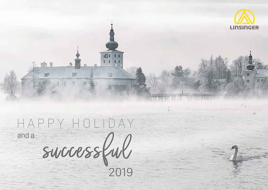 Christmas Greetings, Schloss Ort Gmunden in the background