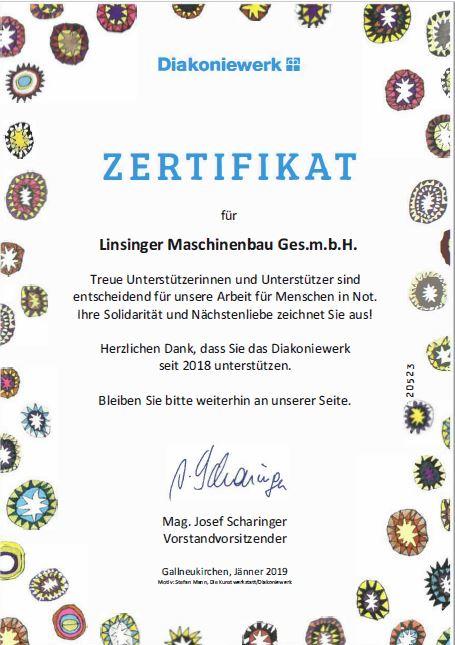 Zertifikat Diakonie